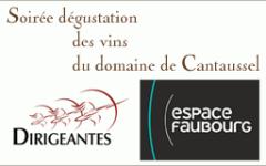 Soirée dégustation des vins du Domaine de Cantaussel le 18 octobre 2012 à l'Espace Faubourg
