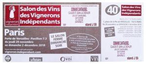 INVITATION Porte de Versailles J59 Cantaussel - Copie